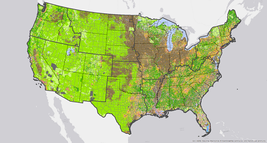 Developed Land Use by County 2010