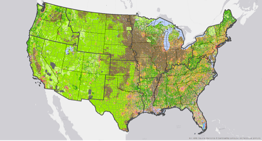 CONUS Land Use by County SSP2