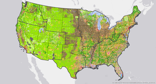 CONUS Land Use by County SSP5